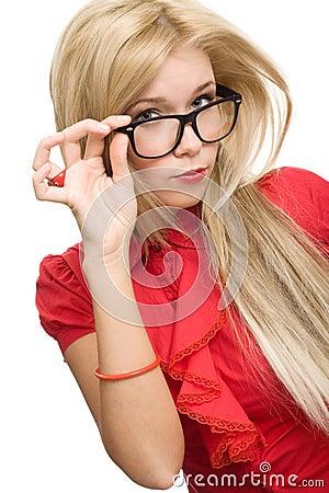 Free Beautiful Secretary Woman Glasses Stock Images - 14587594
