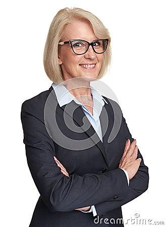 Free Beautiful Senior Business Woman Isolated Royalty Free Stock Photo - 132236305