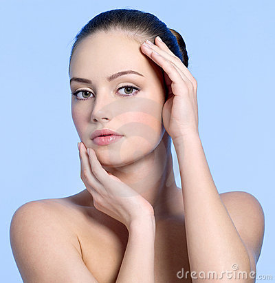 Beautiful sensuality face of young woman