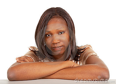 Beautiful and Serious African American Lady