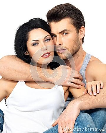Beautiful sexy couple in love