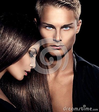 Free Beautiful Sexy Couple Portrait Stock Photo - 43285230