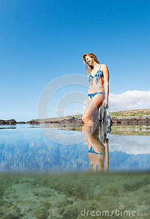 Beautiful Sexy Female Snorkeler Stock Images - Image: 28630414