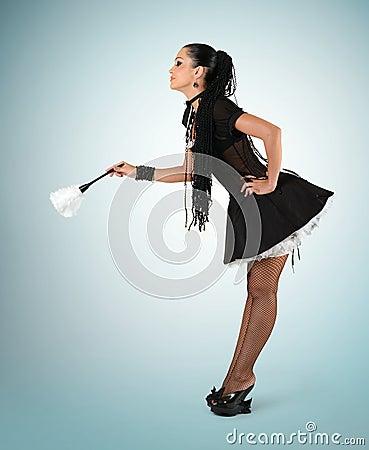 Beautiful sexy french maid
