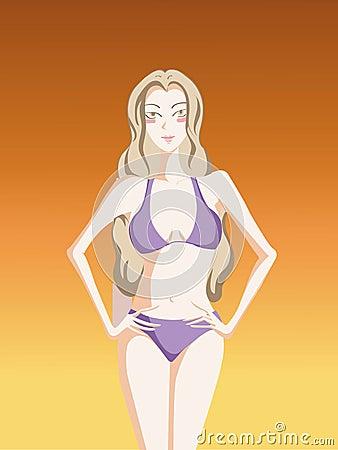 Beautiful sexy girl in bikini