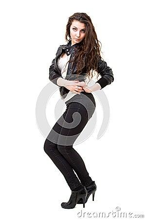 Beautiful and sexy woman posing