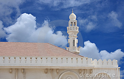 Beautiful Sheikh Isa Bin Ali Mosque minaret
