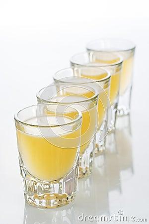 Free Beautiful Shot Glasses Back Lit. Yellow Royalty Free Stock Image - 61674306