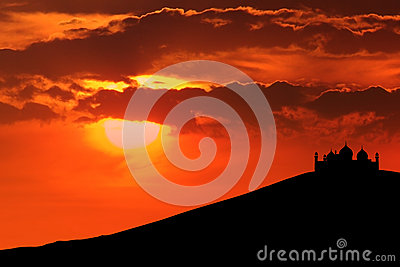 Beautiful Silhouette of mosque