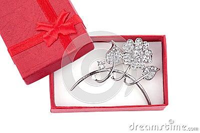 Beautiful silver brooch