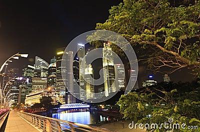 Beautiful Singapore City at Night