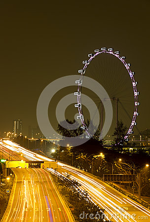Beautiful Singapore eye at night