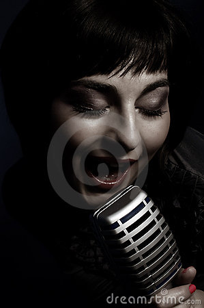 Free Beautiful Singer Stock Photography - 20819812