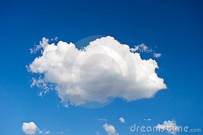 Beautiful single cloud