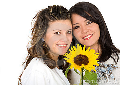 Beautiful sisters portrait