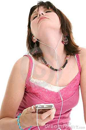 Free Beautiful Sixteen Year Old Girl Listening To Music Royalty Free Stock Photos - 243278