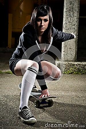 Free Beautiful Skater Teen Girl Stock Photography - 11656572