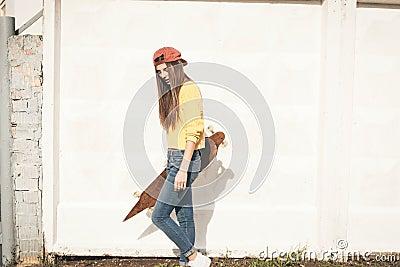 A beautiful skater woman