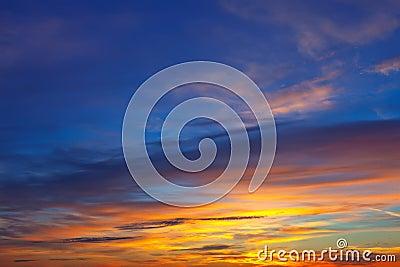 Beautiful sky at sunrise