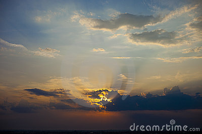 Beautiful sky sunset