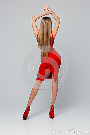 Beautiful Woman Legs With Red High Heels Stock Images - Image