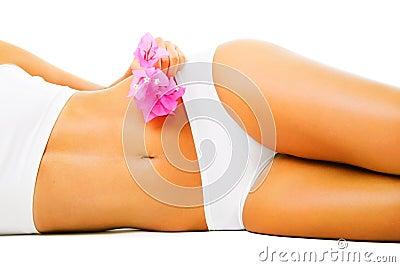 Beautiful slim female body