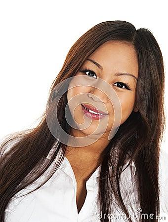 Beautiful smiling asian girl