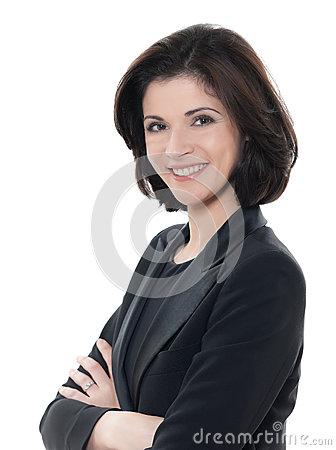 Free Beautiful Smiling Caucasian Business Woman Portrait Arms Crossed Royalty Free Stock Photo - 30173865