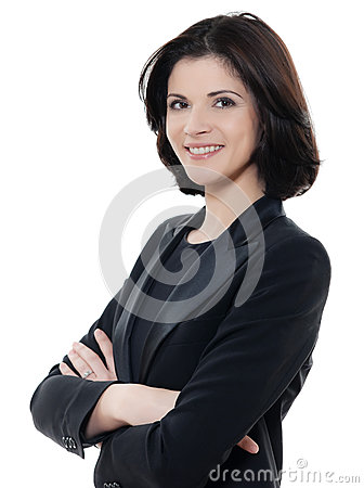 Free Beautiful Smiling Caucasian Business Woman Portrait Arms Crossed Stock Photo - 30675240