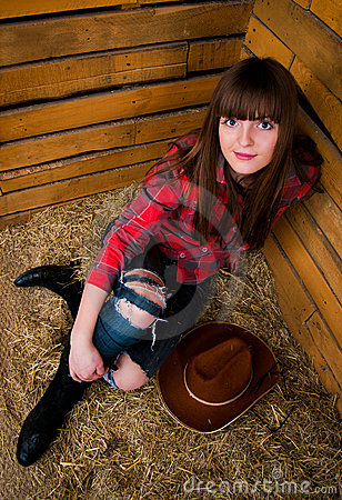 Free Beautiful Smiling Cowgirl Royalty Free Stock Image - 18905326