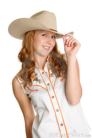 Free Beautiful Smiling Cowgirl Stock Photo - 3134350