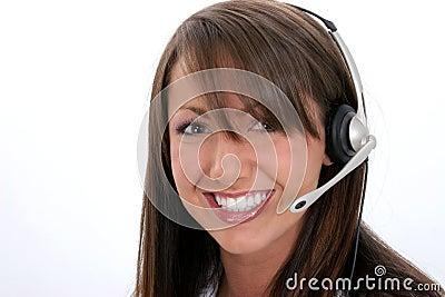 Beautiful Smiling Customer Service Representative