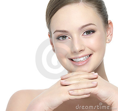 Beautiful smiling face of woman