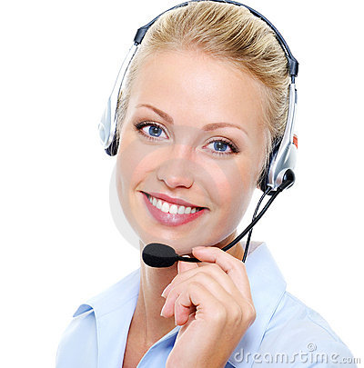 Free Beautiful Smiling Happy Woman In Headset Royalty Free Stock Image - 11074286