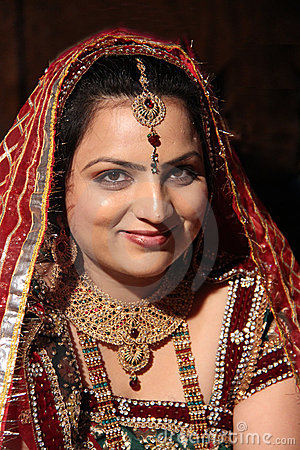 Beautiful smiling Indian bride on her wedding day