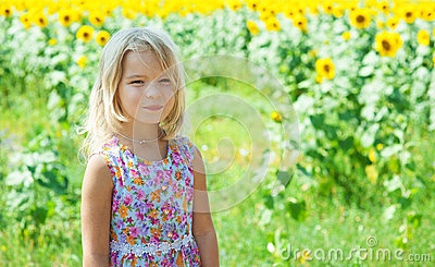 Beautiful smiling little girl on