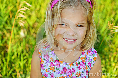 Beautiful smiling little girl close