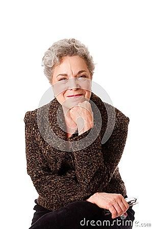 Beautiful smiling senior woman