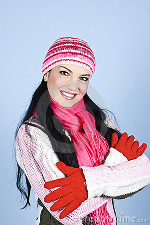 Free Beautiful Smiling Winter Woman Stock Photos - 12008073