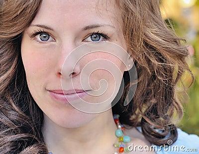 Beautiful Smiling Woman 20s Portrait