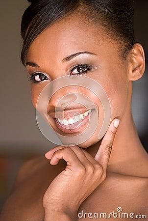 Beautiful smiling woman.