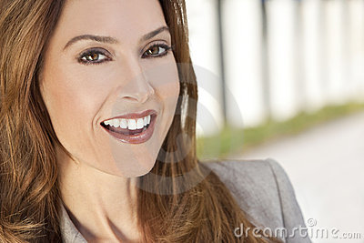 Beautiful Smiling Woman or Businesswoman