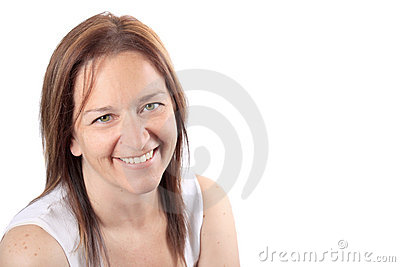 Beautiful smiling woman in early forties
