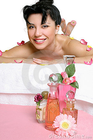 Free Beautiful Smiling Woman Relaxing At Spa Stock Photography - 1680032