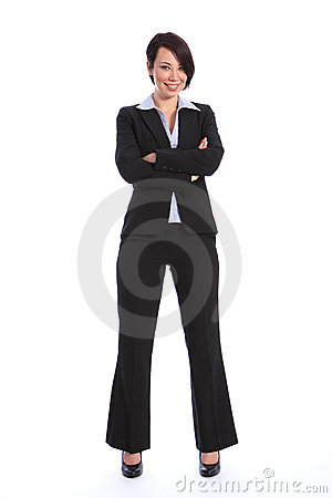 Free Beautiful Smiling Young Business Woman In Suit Stock Images - 20708934