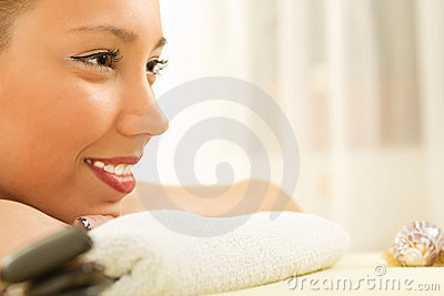 Beautiful smiling young woman relaxation