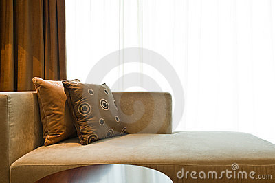 Beautiful sofa in a nice decorated living room