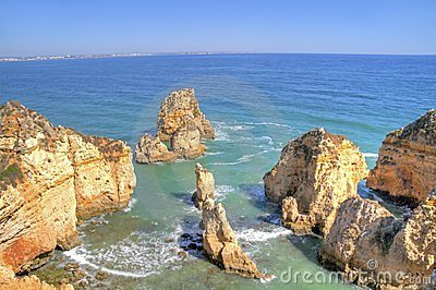 Beautiful southcoast near Lagos Portugal