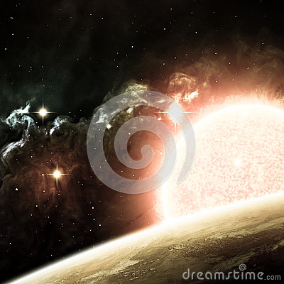 Beautiful space background. Elements of this image