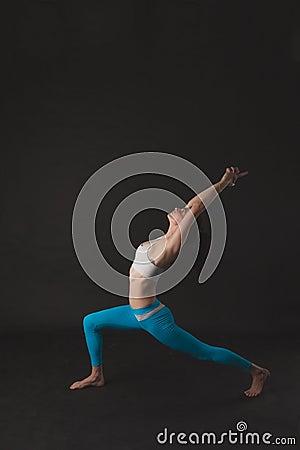 Free Beautiful Sporty Yogi Girl Practices Yoga Asana Stock Photos - 70079533